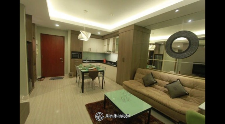Living Room Sudirman Park Apartment 3BR Fully Furnished Apartment