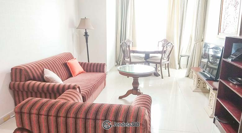 Living Room Apartemen Kuningan City (Denpasar Residence) 1BR Tower Ubud
