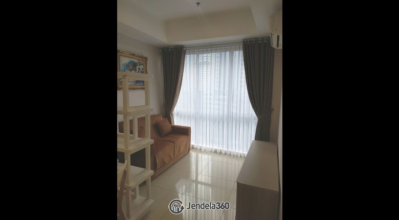Living Room The Mansion Kemayoran Bougenville 2BR Fully Furnished Apartment