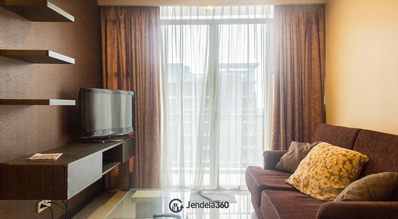Living Room CBD Pluit Apartment 3BR Fully Furnished