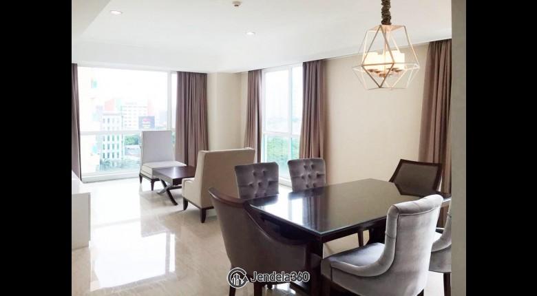 Living Room Apartemen Casablanca Apartment 3BR Fully Furnished