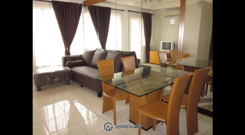 Living Room Apartemen Sudirman Park Apartment