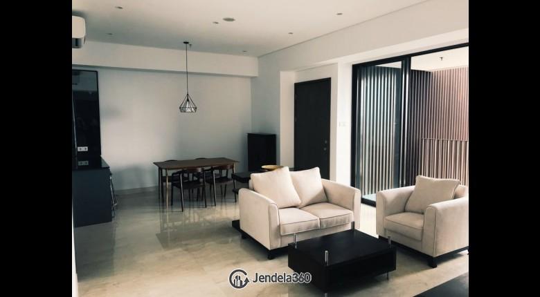 Living Room Apartemen 1 Park Avenue 2BR Fully Furnished