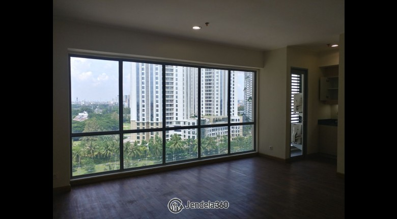 Living Room The Mansion Kemayoran Bougenville 1BR View City Apartment