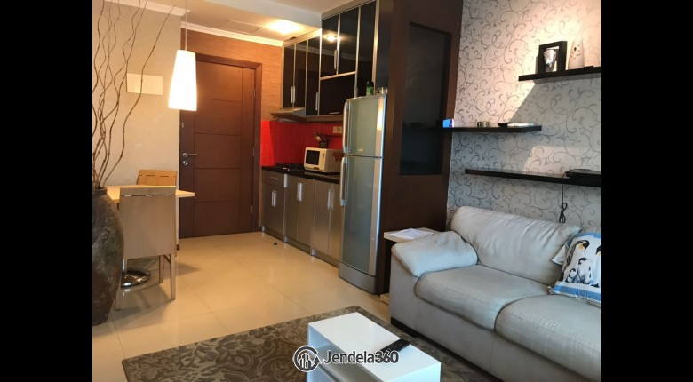 Living Room Thamrin Residence Apartment 2BR Fully Furnished Apartment