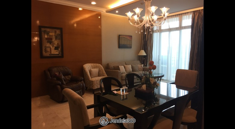 Living Room Senayan Residence 3BR Fully Furnished Apartment
