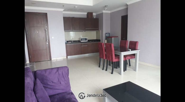 Living Room Kuningan City (Denpasar Residence) 2BR Fully Furnished Apartment