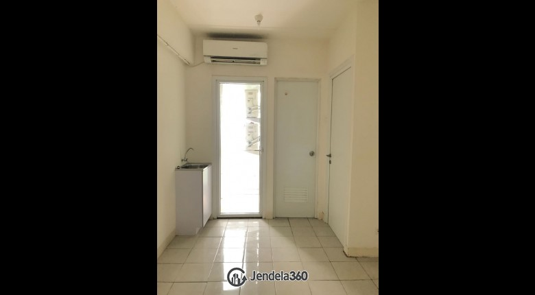 Living Room Green Pramuka City Apartment 2BR Fully Furnished Apartment
