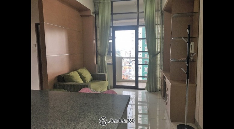 Living Room Apartemen Salemba Residence 2BR Fully Furnished