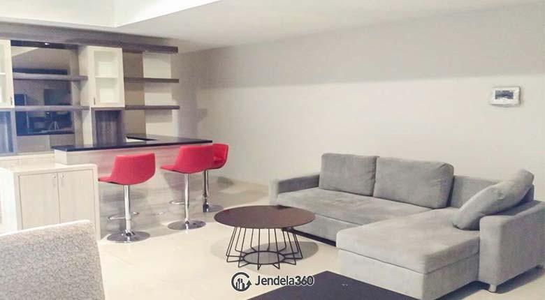 Living Room Apartemen The Mansion Kemayoran Jasmine