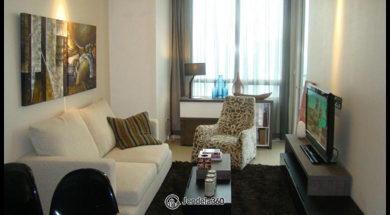 Living Room Apartemen Kuningan City (Denpasar Residence) 2BR View City