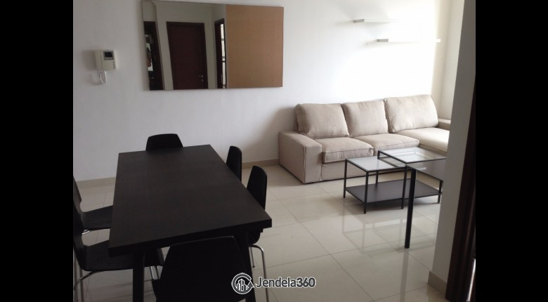 Living Room Kuningan City (Denpasar Residence) 2BR View City Apartment