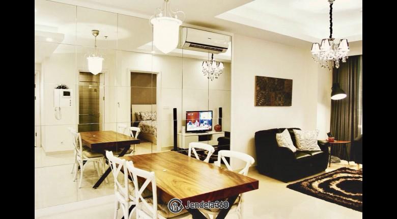 Living Room Apartemen Kuningan City (Denpasar Residence) 1BR Fully Furnished