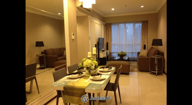 Living Room Gandaria Heights Apartment 3BR Fully Furnished