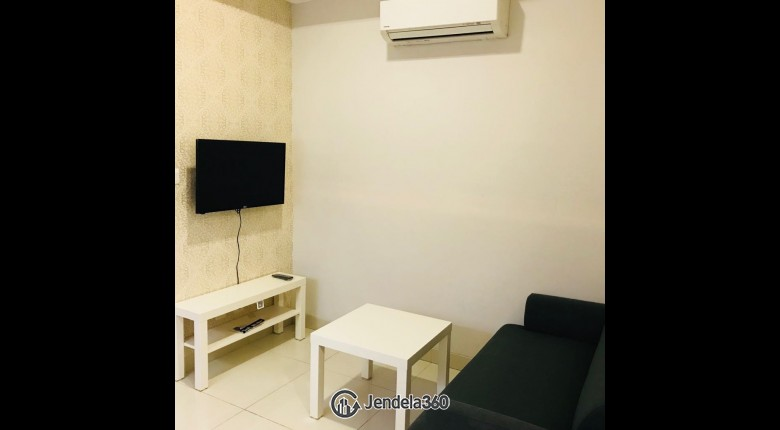 Living Room Apartemen The Mansion Kemayoran Bougenville