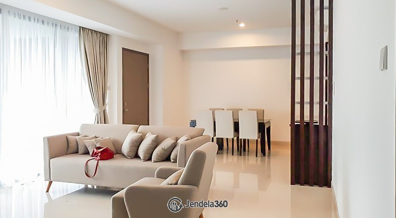 Living Room Apartemen 1 Park Avenue