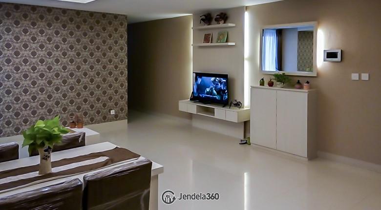 Living Room The Mansion Kemayoran Jasmine Apartment
