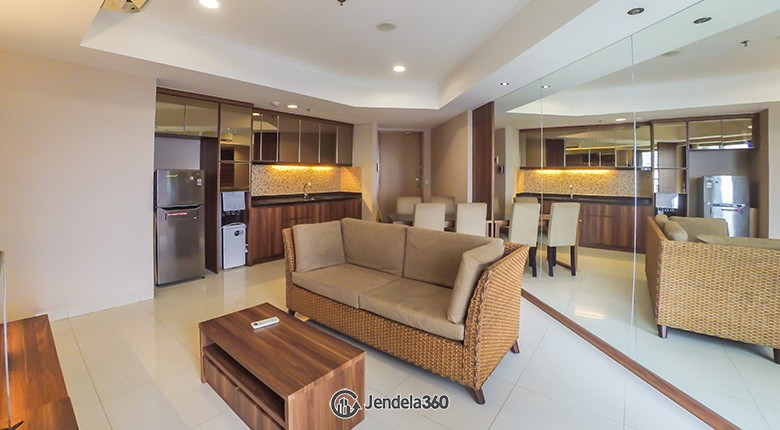 Living Room The Mansion Kemayoran Jasmine Apartment