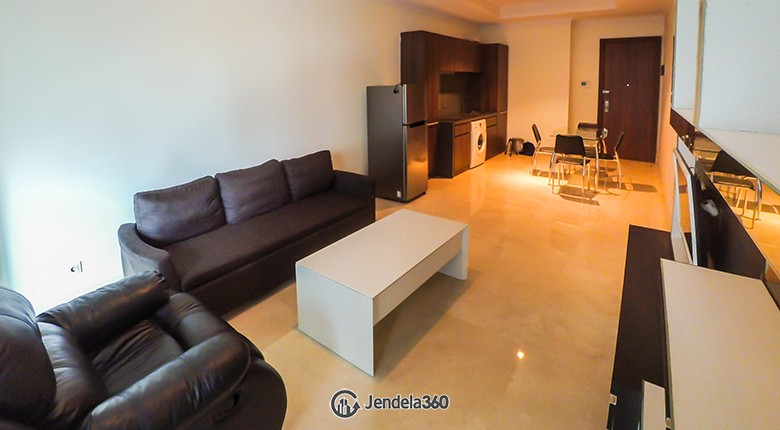 Living Room Residence 8 Senopati Apartment