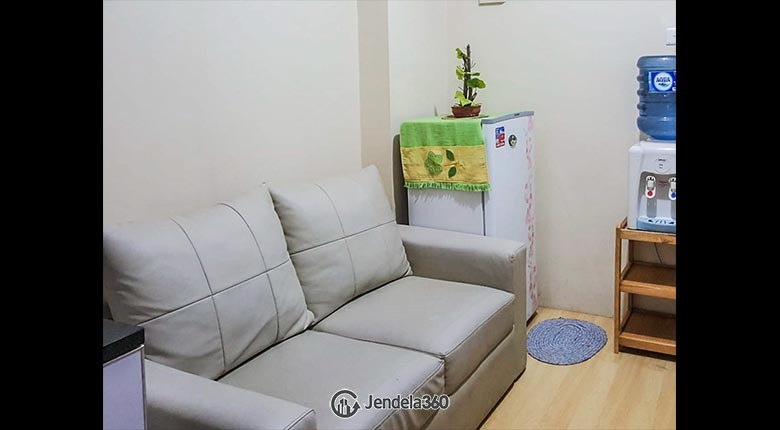 Living Room Green Pramuka City Apartment