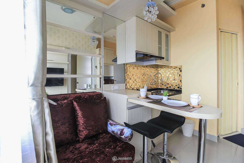 Living Room Green Pramuka City Apartment