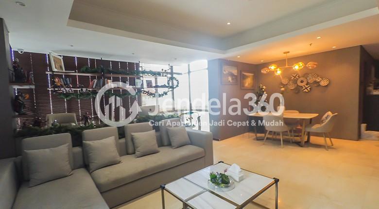 Living Room Apartemen Royal Mediterania Garden Residence