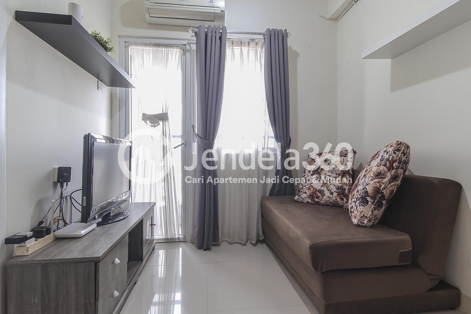 Living Room Green Pramuka City Apartment Apartment