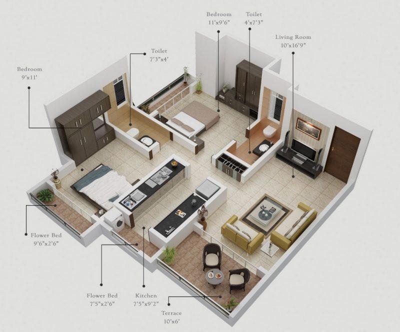 Rekomendasi Desain Apartemen 2 Kamar Tidur Paling Cocok Untuk Anda