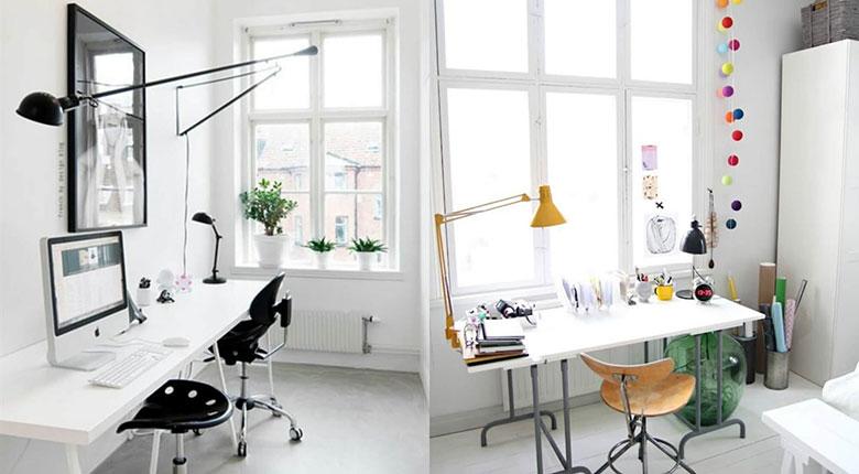 Desain Ruang Kerja Colorful