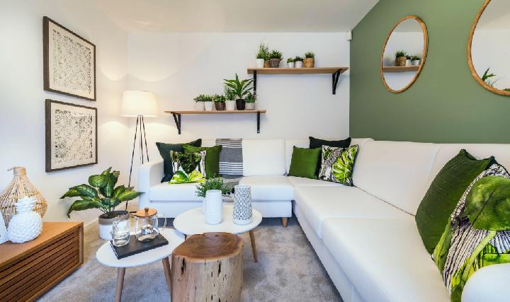 rumah nuansa hijau